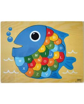 Wooden Puzzles Cartoon Fish Puzzle for kids_ZKB067