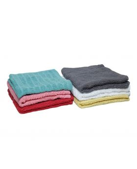 6 Pcs Wash Towel -Assorted Color