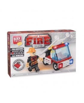 Block Tech Fire Dept Toy Set