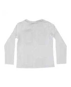 White Cotton Long Sleeve T-shirt For Boys