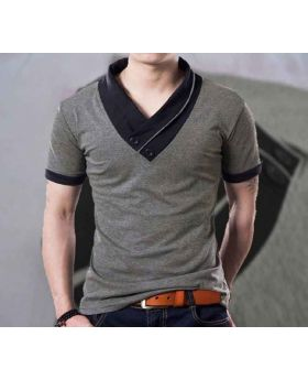 Mens Ash Color  Cotton Half sleeve T-Shirt