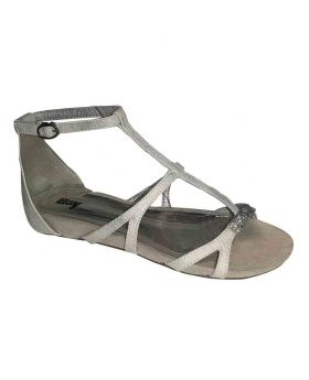 Ladies Open Flats Synthetic Upper material 195611853