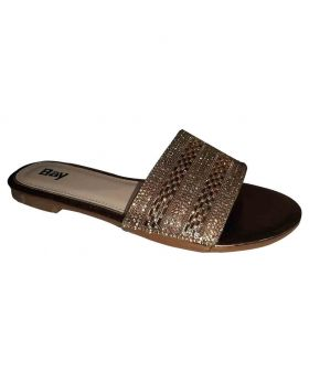 Ladies Open Flats Synthetic Upper material 195612880