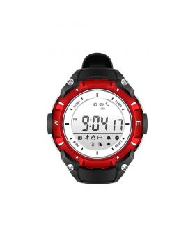 DZB DA14580 Bluetooth 4.0 Smart Watch Heart Rate Monitor Pedometer Remote Camera SMS Call for Android iOS - Red