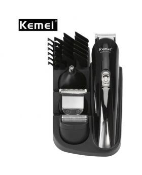 Kemei KM-500 8 in 1 Hair Clipper Electric Trimmer Family Care - Black EU Plug
