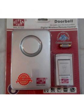 UMS Digital Wireless Remote Control Doorbell-White