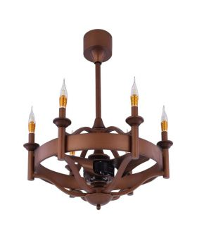 Indoor modern fan Light  CELL226- ancient red