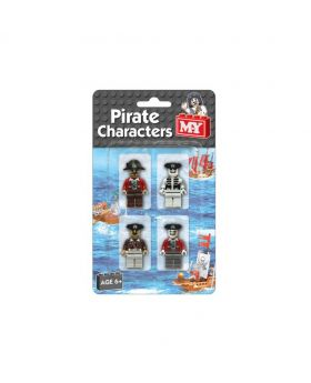 Pirate Character Building Block Bricks - 4pcs