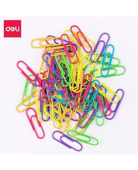 29 mm Multi Colored Plastic Paper Clip (Gems Clips) 1 box - 100pcs