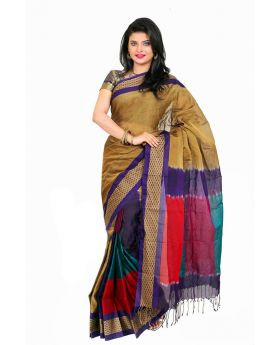 Maslice Cotton Saree-Multi color