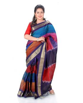 Maslice Cotton Saree-Multi color saree