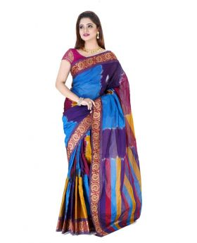 Multi color Maslice Cotton Saree
