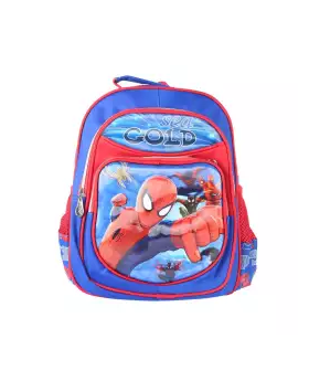 Raksin School Bag For Boys - Blue and Red