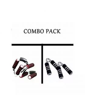 Combo Pack of Push Up Bar and Hand Grips