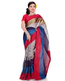 Maslice Cotton Saree-Multi color dress