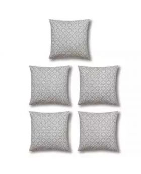Five Pieces Cushion & Cover Set - Silver Color