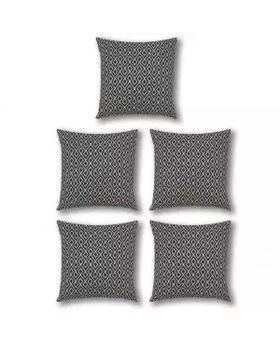 Five Pieces Cushion & Cover Set(Black & White)