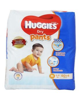HuGGIES Dry Pant System Malaysia= 6-12 M 60+4