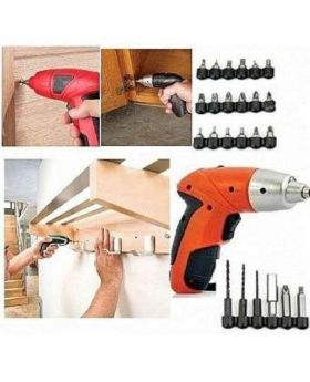 Cordless Screwdriver Set - Orange and Black