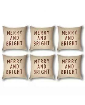 Six Pieces Cushion Cover Set -White & Red-