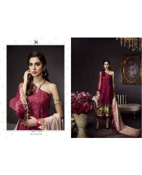 Deepsy Noor Organza Maroon Color Dress