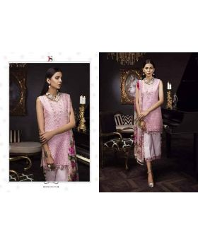 Deepsy Noor Organza Pink  Color Dress