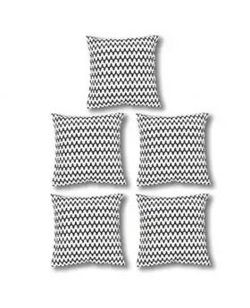 Five Pieces Cushion & Cover Set(White and Black)