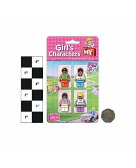 Girl`s Building Blocks Brick Character