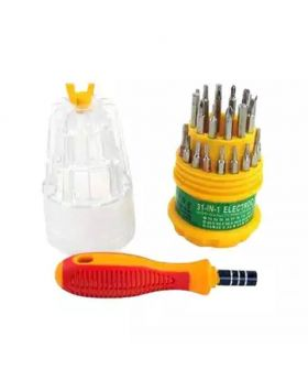 31-in-1 Screwdriver Tool Set - Yellow