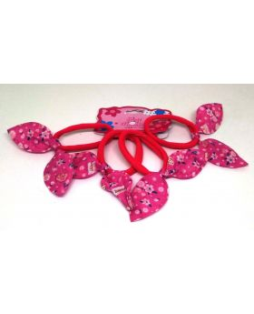 4pcs Set Rubber Band for Baby - Deep Pink