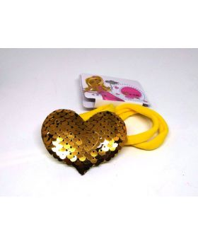 Love Designe Rubber Band for Baby - Yellow