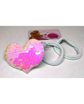 Love Designe Rubber Band for Baby - White