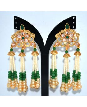 KUNDON MOTI AND PEARL WORK Earring