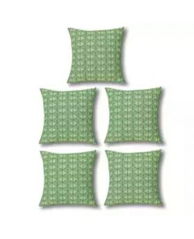 Five Pieces of Cushion & Cover Set - Ocean Green
