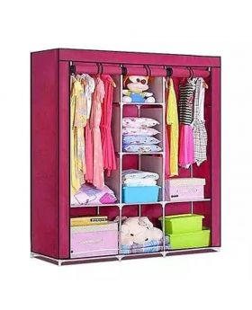 HCX Wardrobe Storage Organizer for Clothes - Big Size - Violet