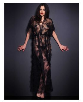 95% Polyester + 5% Spandex Spellbound All of Lace Nightgown