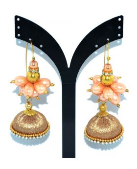 DESIGNER TERCEL EARRING WITH STONE MOTI & PEARL WORK FOR WOMEN