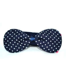 BABY HAIR BAND BOB DEIGN NAVY BLUE AND WHITE  BALL