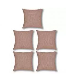 Five Pieces Cushion & Cover Set(Rose Color)