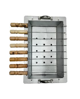 BBQ Grill And Kabab Maker Stove with 12 Stick