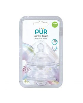 PUR Gentle Touch Wide Neck Nipple Size M-2pk (9822)