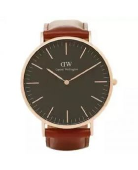 WD03 PU Leather Analog Wrist Watch For Men - Brown And Black