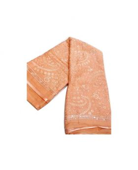 Pakistani Barish Georgette Stylish Embroidery Soft Sarees For Women-Pink