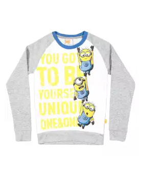 Light Gray Cotton Long Sleeve T-shirt For Boys