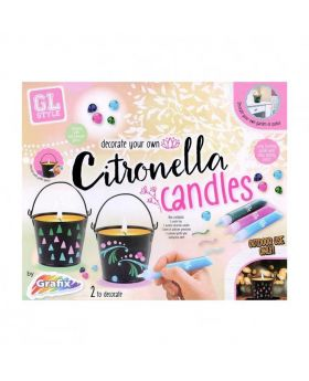 Grafix Decorate Your Own Citronella Candles - Multicolor