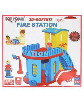 3D Soft Kit Fire Station Toy - Multicolor