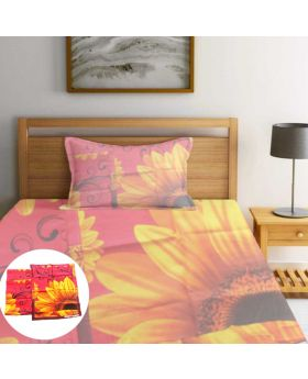 2L Cloth Semi double 100% Cotton Bedsheet-ASHA045