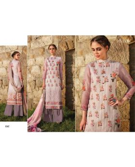 Printed Organdi With Embroidery Dress