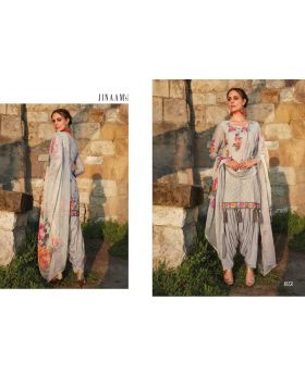 Semi Stitched Printed Organdi With Embroidery Dress