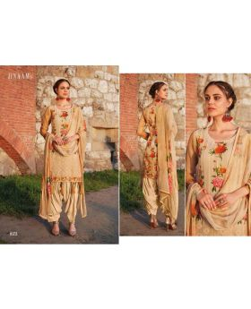 Printed Organdi With Embroidery Semi Stitched Salwar Kameez